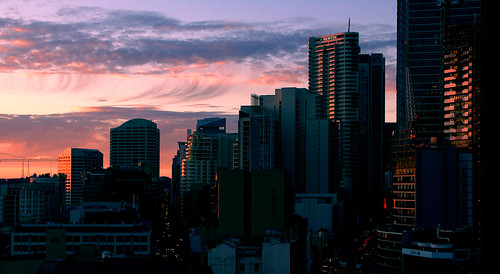 city sunset sky sydney