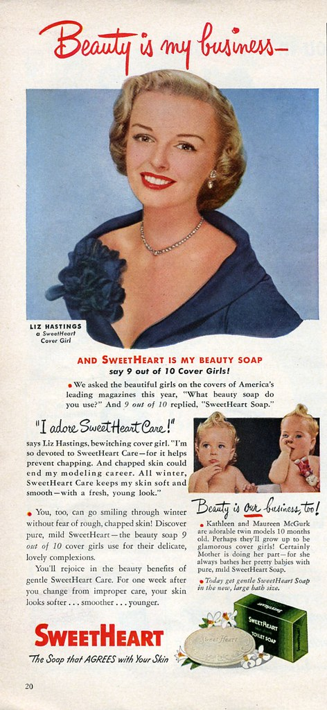 SweetHeart Soap 1949 | Endorsed by Liz Hastings a SweetHeart… | Flickr