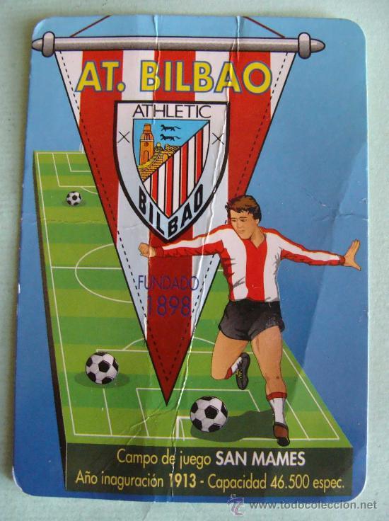 1998 Calendario.Calendario De Futbol 1998 Athletic De Bilbao Publicidad