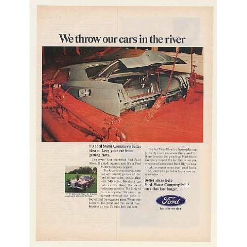 Red River Ford >> 1969 Ford Red Paint River Rustproofing Lincoln Continental