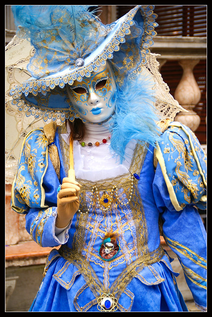 Venice carnival 2011 - Lady in blue