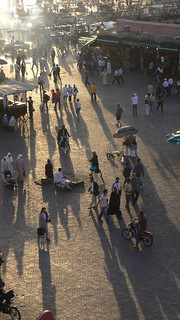 Shadows At Djemaa el Fna