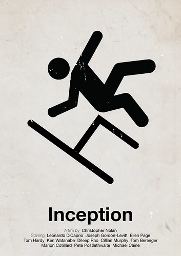 'Inception' pictogram movie poster | by Viktor Hertz