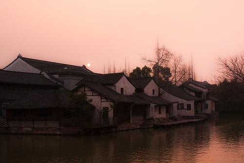 water night town wuzhen