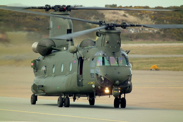 Chinook Just Prior To Take Off At R.A.F Valley
