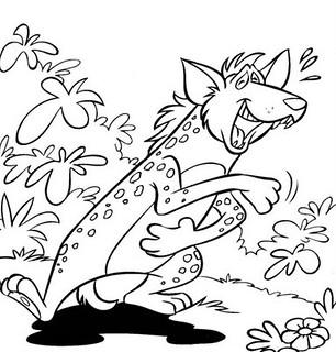 Desenho De Hiena Para Colorir Desenho De Animais Selvagen Flickr