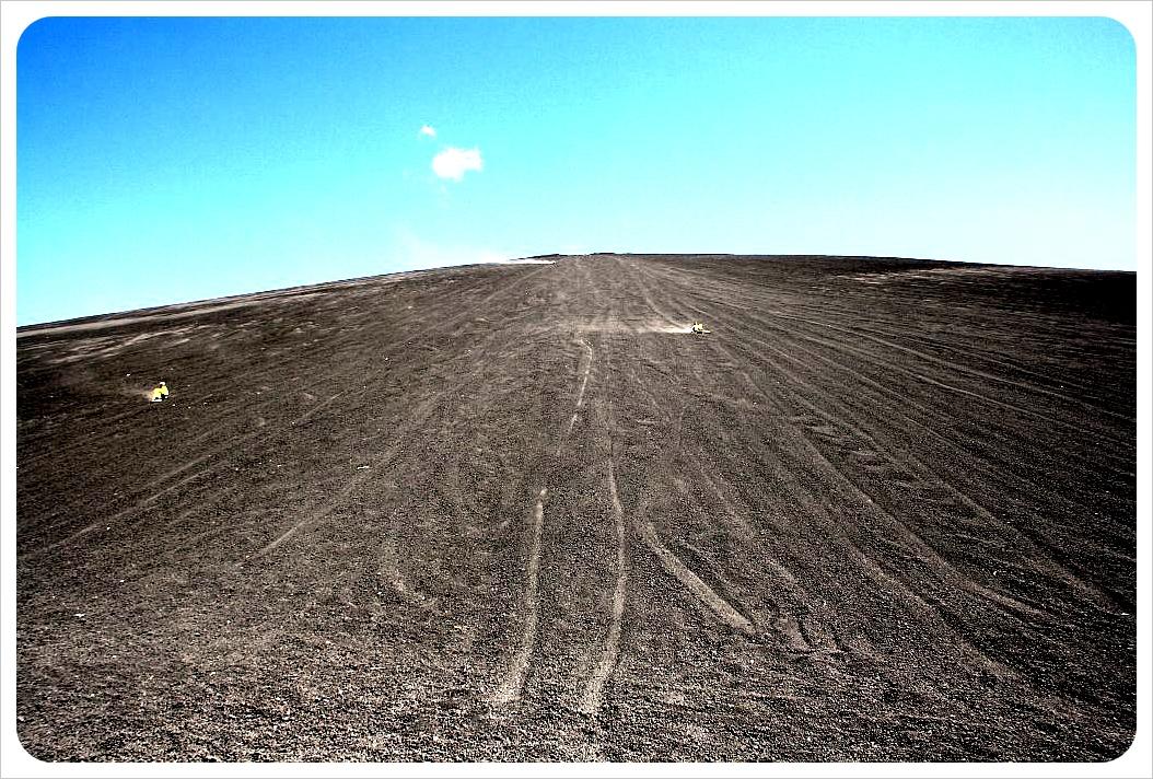 Cerro Negro boarders from the bottom