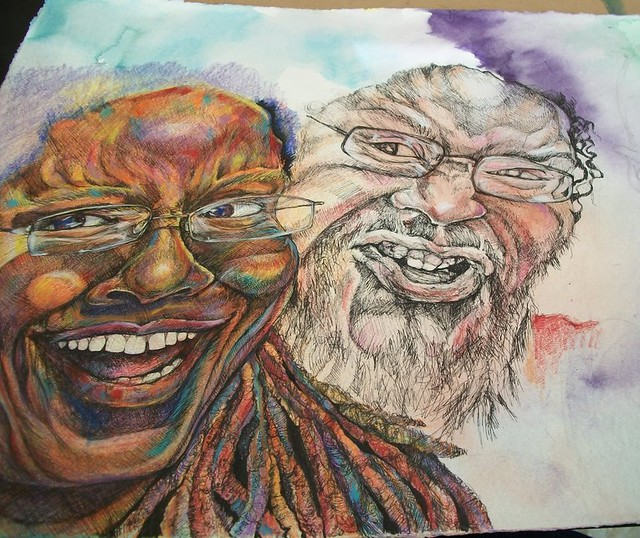 mixed media drawing in-progress2