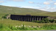 Train crossing the Ribblehead Viaduct