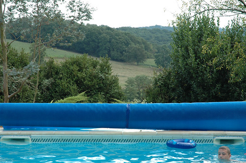 blue trees sky france water pool rural countryside swimmingpool maisoncantegrit