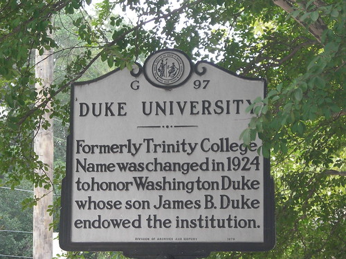 Duke University Historical Marker | by Lesley Looper