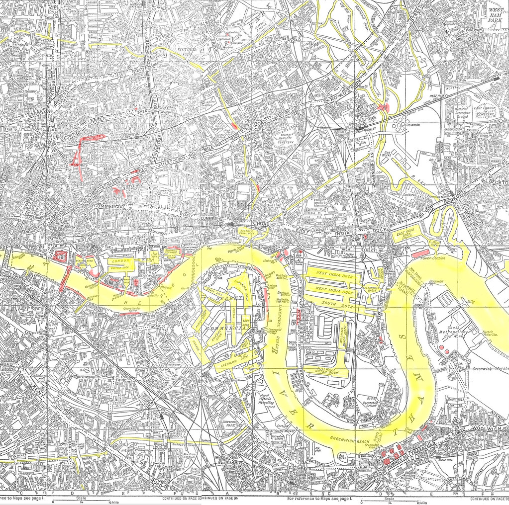 Az Street Map Of London.Old London Docklands Mid 1960s A Z Street Map Please Vie Flickr