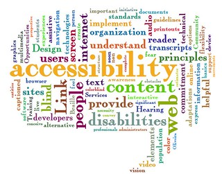 web accessibility word cloud | by itjil