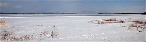 snow ice landscape raw michigan lakemichigan grasses eastbay traversecity traversebay d300 joeldinda imayhaveshownyouthisviewbefore