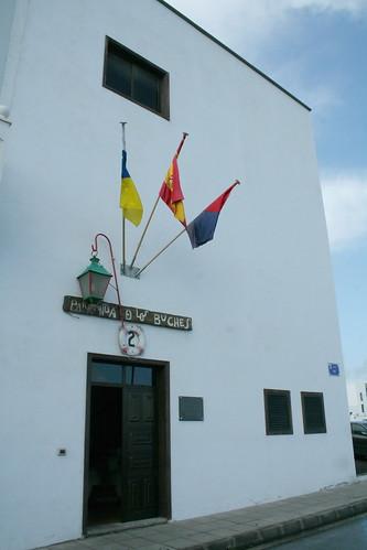 Entrada a la sede de la parranda marinera de Los Buches