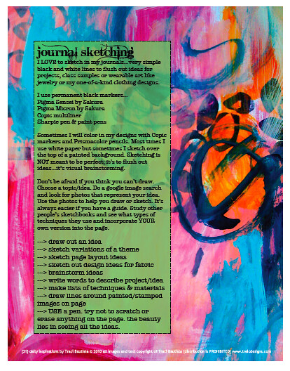 31 daily inspriations art journaling sample pdf workbook p… | Flickr