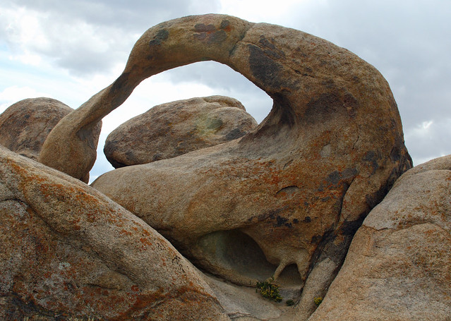 Contorted Mobius Arch in the Alabama Hills area near Lone Pine
