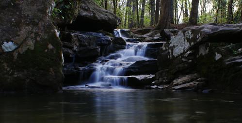 water creek waterfall rocks streem hooveralabama mossrockpreserve