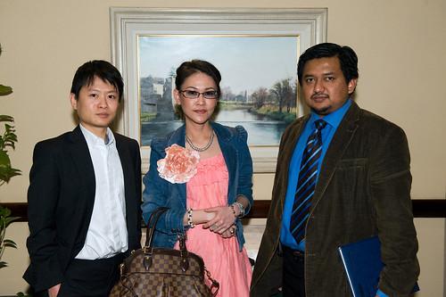 Dr Eugene Ng, Dr Juliah Tbarani and Dr Khairulnazri Mohammad