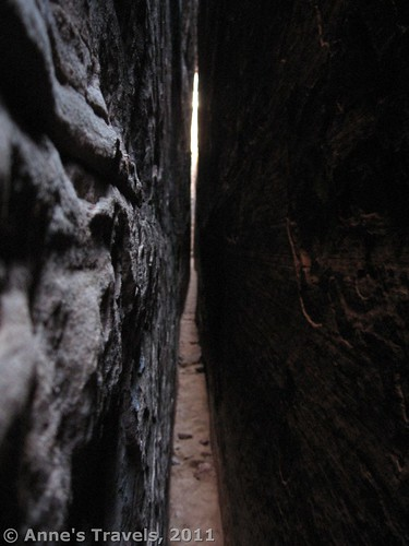 """Inside of a """"Joint,"""" Canyonlands National Park, Utah"""