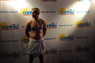 Greek God at the Contiki VIP Euro Bash | by Janis Behan