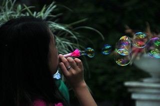 Blowing many bubbles   by spiderman (Frank)