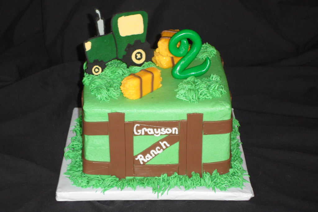 Prime Tractor Birthday Cake April Wallace Cakes Flickr Personalised Birthday Cards Beptaeletsinfo