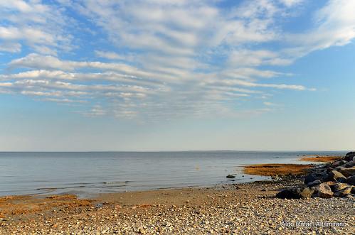 ocean park blue sky ny newyork color colour beach water colors rock clouds digital landscape island li us sand rocks colours connecticut horizon greenwich longisland atlantic greenwichpointpark greenwichcove nikond7000 sigma1750mmf28os