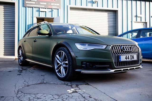 Audi A6 Allroad Matte military Green & Ceramic PRO