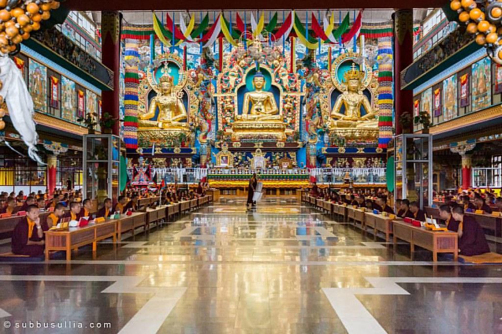 Mass #Prayers at ( #GoldenTemple ) #Monastery , #Bailukupp