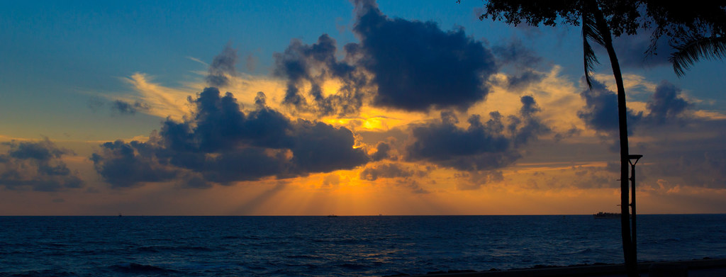 Kakaako Sunset Panorama desktop