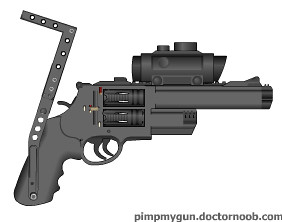 Custom Revolver | A double-barrel, double-cylinder revolver … | Flickr