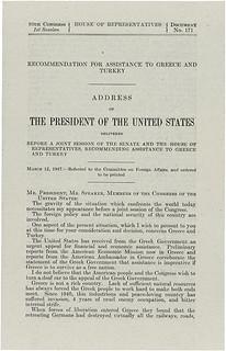Truman Doctrine, 03/12/1947, Page 1