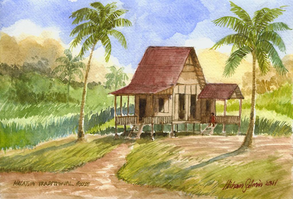 Unduh 95 Koleksi Background Pemandangan Rumah Kampung Gratis Terbaru
