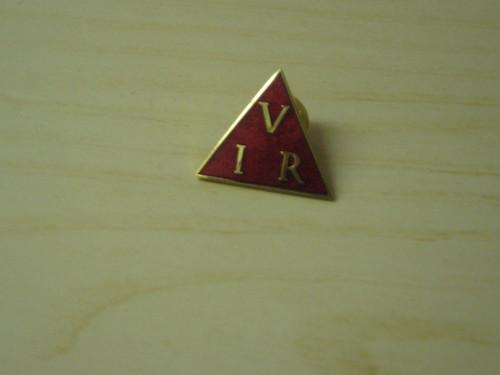 Ohm's law triangle lapel badge