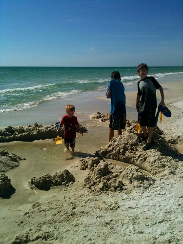 family beach kids fun outdoors happy florida tyndall