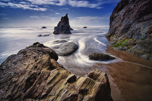 ocean sea beach water oregon sand rocks tide wave pacificocean perch arcadiabeach