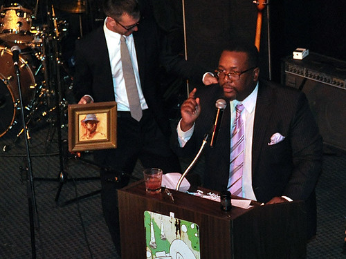 Wendell Pierce, New Orleans native and Treme actor, auctioned off some of his cherished New Orleans memorabilia.