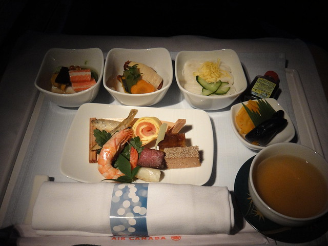 Air Canada Excutive First Class: Keiseki-style meal