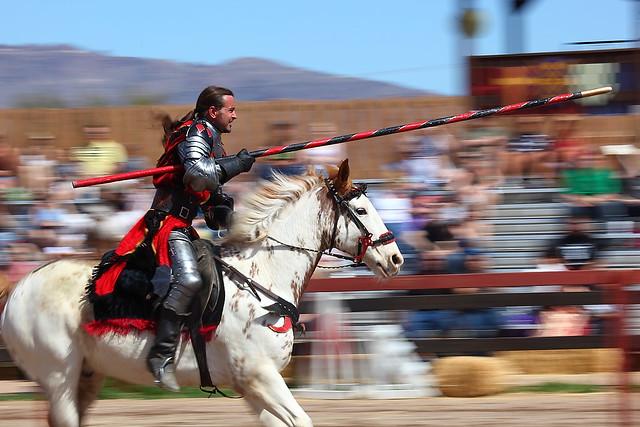 Knight Don Alvaro De Luna charges 2011 Arizona Renaissance Festival