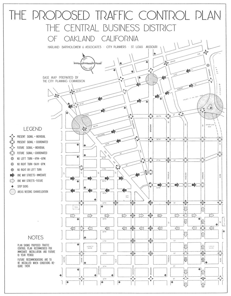The Proposed Traffic Control Plan in the Central Business District of Oakland California (1947)