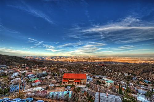sunset arizona cloud tourism landscape paintshop town photo nikon wide az pro jerome hdr x3 photomatix d700 1424mm