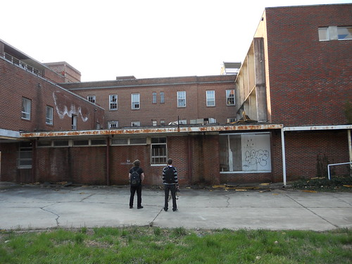 old people brick abandoned zach hospital outside view north taylor carolina davis damaged frontal elkins statesville