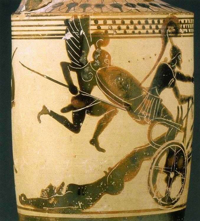 -0490: Aquiles arrastra el cadáver de Héctor