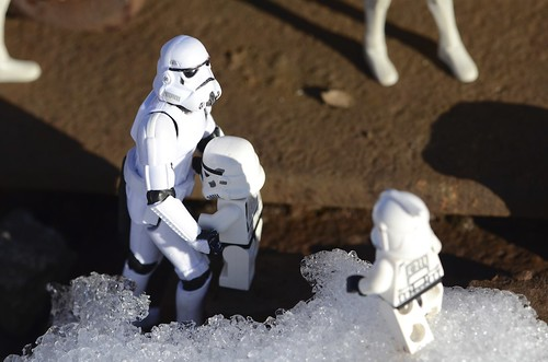The Stormtrooper is taking care of the mini-stormtrooper | by Kalexanderson