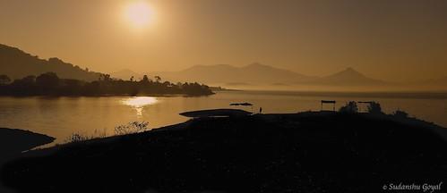 morning india lake misty sunrise canon mumbai lonavla panaroma 500d sudhanshu flickraward pavanadam kissx3 flickraward5