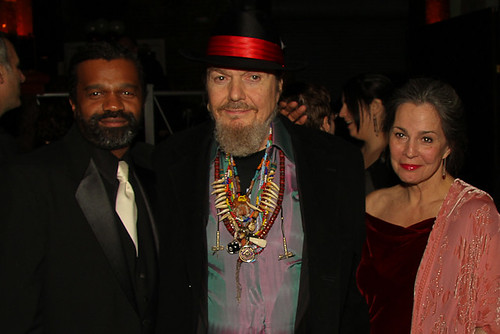 Dwayne Breashears and the legendary Dr. John with the lovely Diane Anderson Ireland from the New Orleans Musicians Clinic.