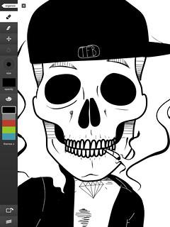 Skeleton in progress
