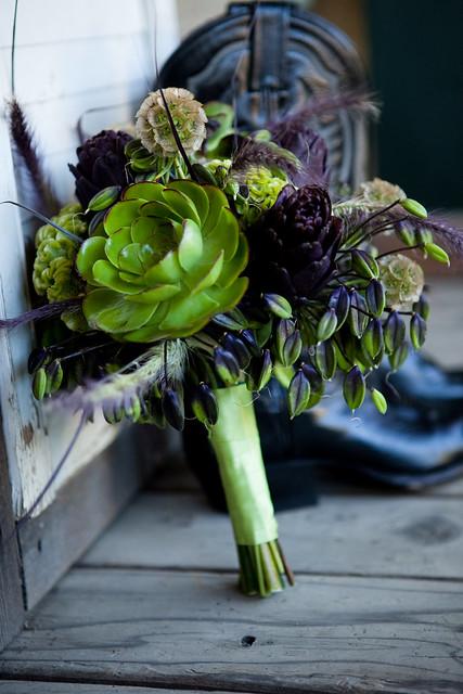 Los Gatos Wedding Flowers, bouquet of succulents