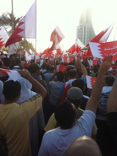 Bahrain pro-democracy demo in the capital Manama | by malyousif